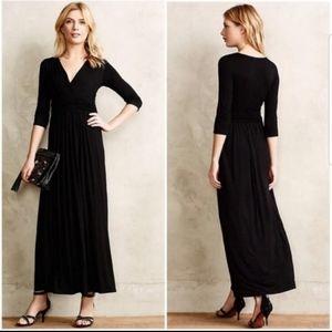 BAILEY 44 ANTHROPOLOGIE black maxi dress